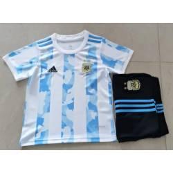 Argentina Equipación 2020-21, conjunto completo niños